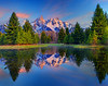 Mirrored Reflections Of The Grand Tetons - Schwabacher Landing, Grand Teton National Park, Wyoming