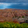 Rain Shadow Hangs Over The Valley - Badlands National Park, South Dakota