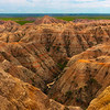 The Deep Canyon Walls Of The Badlands - Badlands National Park, South Dakota