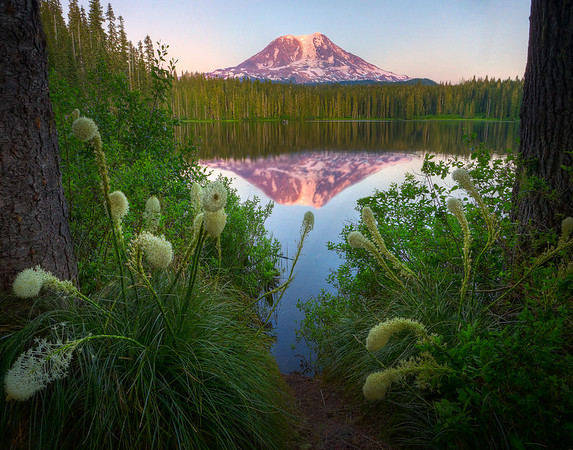 Mount Adams At Sunset From Takhlakh Lake -  Gifford Pinchot National Forest, Washington
