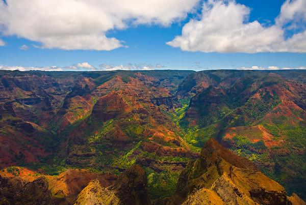 Between Shadow And Light - Waimea Canyon, Kauai, Hawaiii