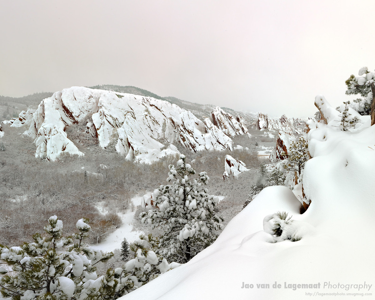 Cloudy evening in wintery Roxborough state park