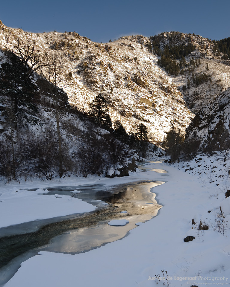 Clear Creek Canyon icy sunset