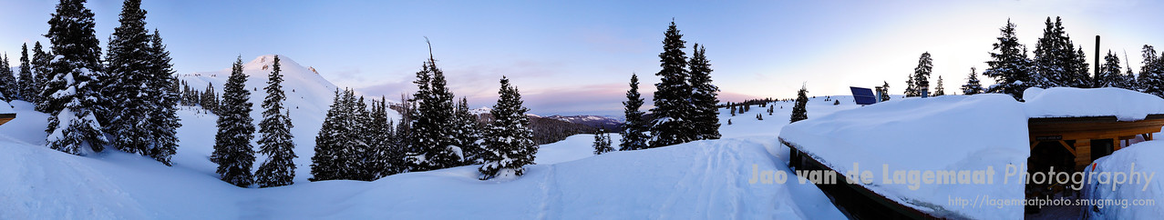 360 degrees view from the Goodwin/Greene hut at sunrise
