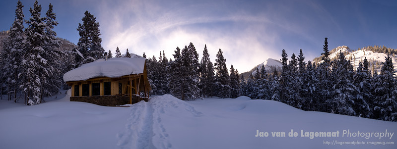 Markley hut at sunrise
