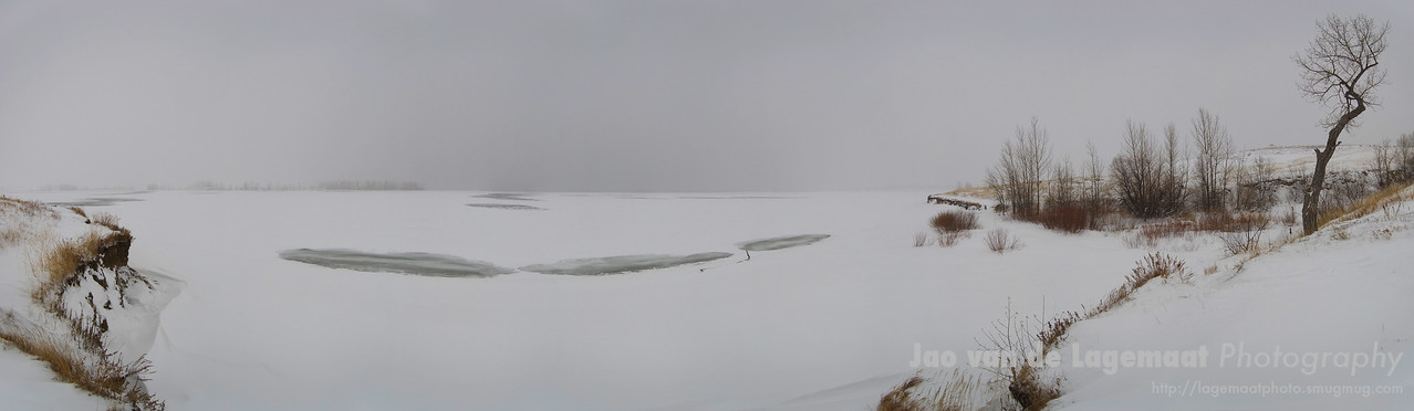 Standley Lake in a snowstorm