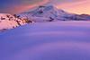 Winter Twilight On St Helens - Mount St Helens National Monument, Washington