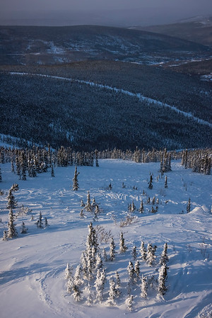 Lowering Into The Valley -Fairbanks, Mt Aurora Skiland, Alaska