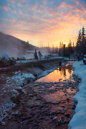 Sunrise Reflections On The River -Chena Hot Springs Resort, Outside Fairbanks, Alaska