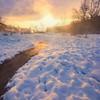 A Winter Sunrise Along The River -Chena Hot Springs Resort, Outside Fairbanks, Alaska