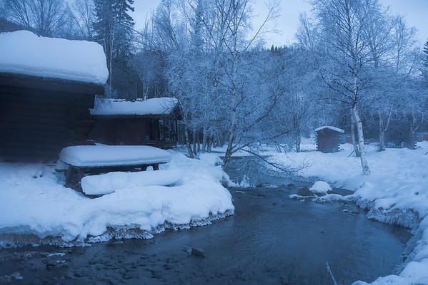 Early Morning Frost Along River -Chena Hot Springs Resort, Outside Fairbanks, Alaska