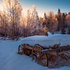 Wheel Wagon Sunrise -Chena Hot Springs Resort, Fairbanks, Alaska