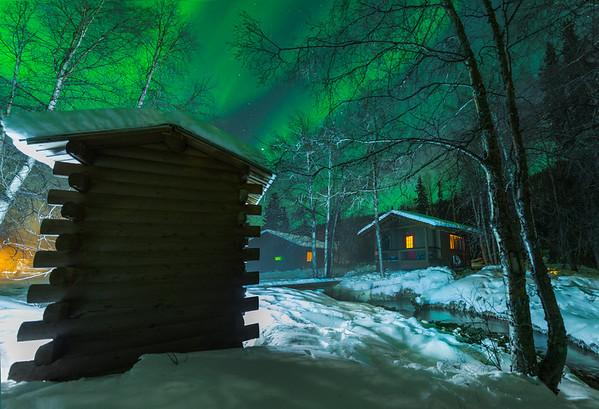 Cabin In The Woods -Chena Hot Springs Resort, Outside Fairbanks, Alaska