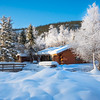 Snow Mounds Surrounding Snow Cabin -Chena Hot Springs Resort, Fairbanks, Alaska