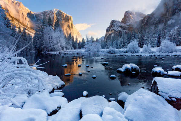 Frozen Gates Of Winter - Valley View, Yosemite National Park, California