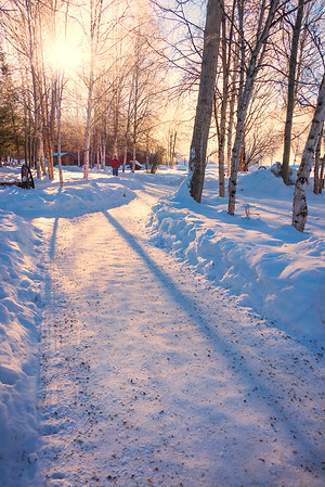 An Early Morning Winter Walk_ -Chena Hot Springs Resort, Fairbanks, Alaska