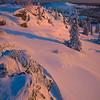 Last Light Hitting The Hillsides -Fairbanks, Mt Aurora Skiland, Alaska