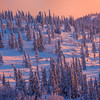 Glowing Reds Of Winter -Ester Dome, Fairbanks, Alaska