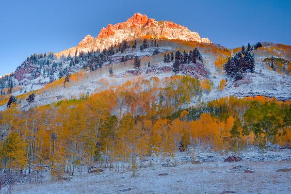 Firdt Light On The Peaks - Maroon Bells-Snowmass Wilderness, Aspen, Colorado