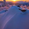 Alaska Red Gold Sunset_30x20 -Ester Dome, Fairbanks, Alaska