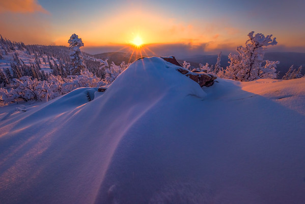 Sun Glow Curves -Ester Dome, Fairbanks, Alaska