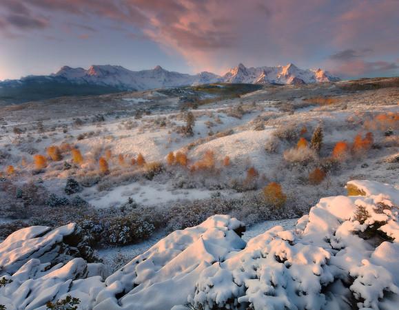 Sunrise From The Dallas Divide, Sneffels Range, Colorado