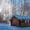 A Snowy Alaskan Cabin Mornin -Chena Hot Springs Resort, Fairbanks, Alaska