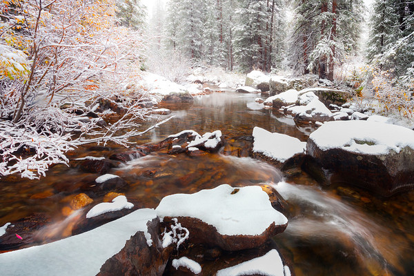 Winter Magic Land As Autumn Lingers - Maroon Bells-Snowmass Wilderness, Aspen, Colorado