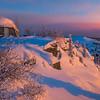 Best View To See Sunset -Fairbanks, Mt Aurora Skiland, Alaska