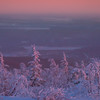 Overlooking The City Of Fairbanks In Winter -Ester Dome, Fairbanks, Alaska