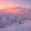 Sunset Reds Aglow -Ester Dome, Fairbanks, Alaska