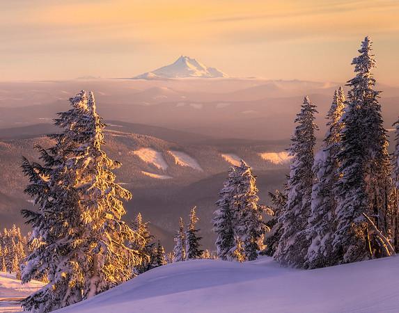 Mount Bachelor From Mount Hood - Mount Hood, Oregon