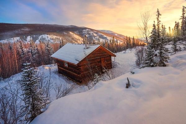 Sunrise Spreads Warmth Across The Valley -Chena Hot Springs Resort, Outside Fairbanks, Alaska