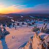 Sunburst Over Valley -Fairbanks, Mt Aurora Skiland, Alaska