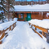 A Cabin In Winter Woods -Chena Hot Springs Resort, Fairbanks, Alaska