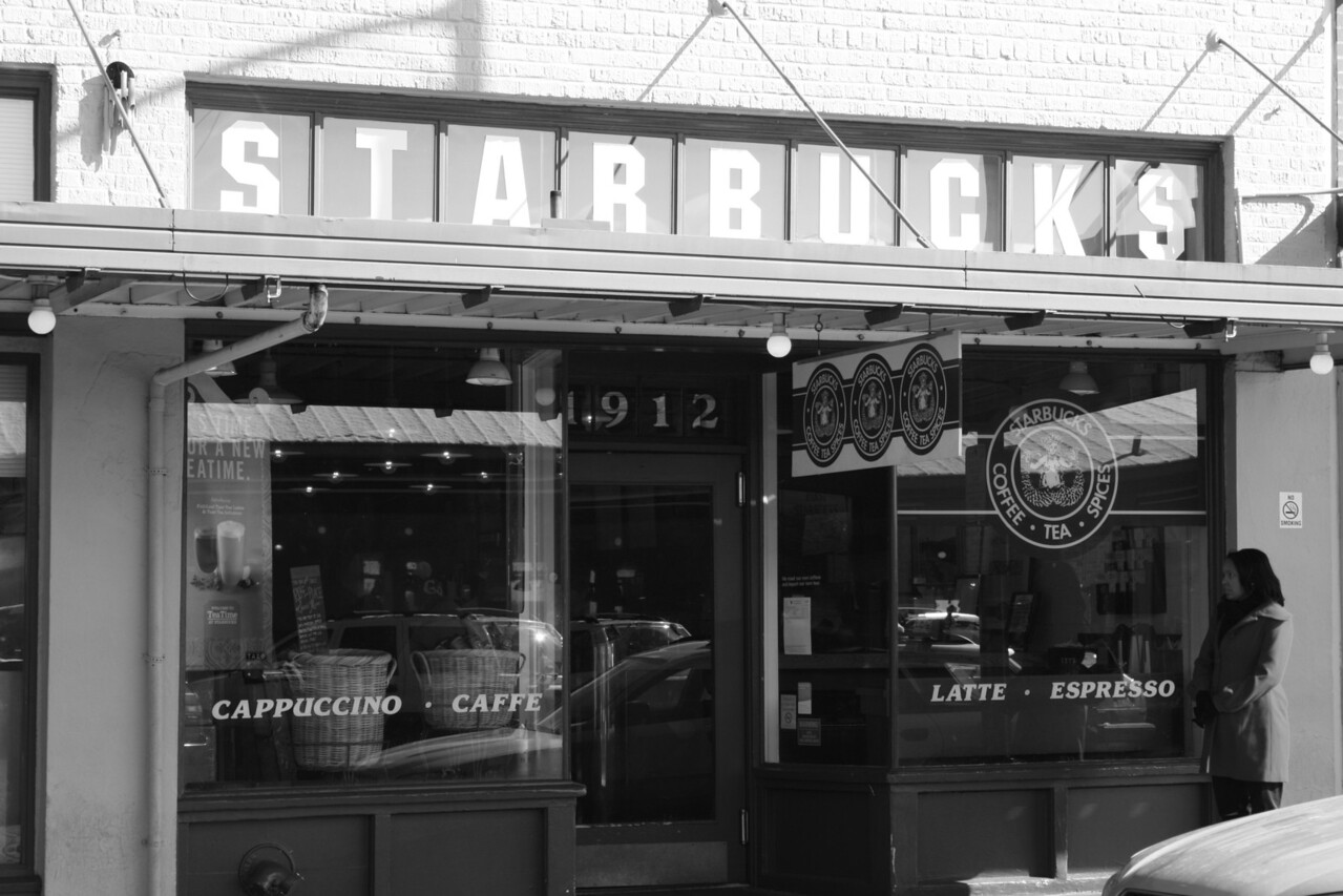 Starbucks #1.  Take note of the original logo.