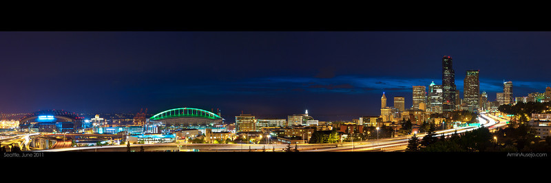 Seattle in June 2011.  Sized to print at 12x36 inches.