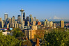 Seattle, WA with Mount Rainier in the background from Queen Anne Hill