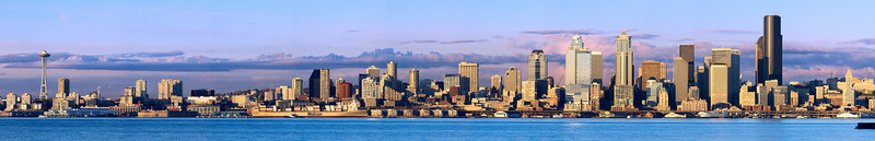 Seattle Panorama from Alki - day