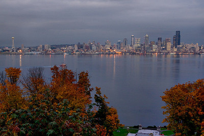 Skyline with Fall Foliage
