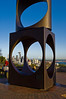 Seattle, WA through the Changing Form sculpture on Queen Anne Hill