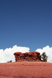 Spaceship Rock or UFO Rock depending on which tour guide you get.  The lower bit slopes into an inverted dish shape.