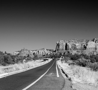 long road bw