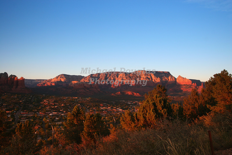 Sunset over Sedona, Arizona