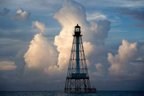 Sunrise at Alligator Light--side lit view to the south