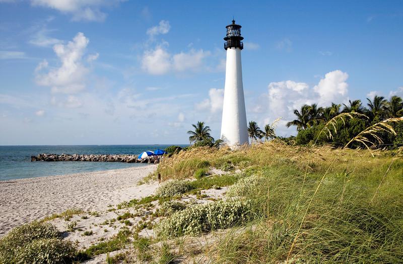 Cape Florida Light  on a beautiful Sunday Morning
