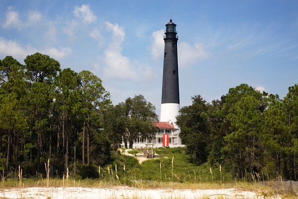 Pensacola Lighthouse as viewed from the beach
