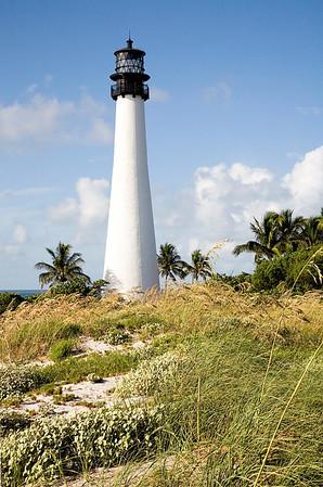 Cape Florida Light with sea oats