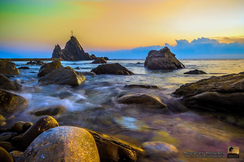 Asseu Rocks at sunset