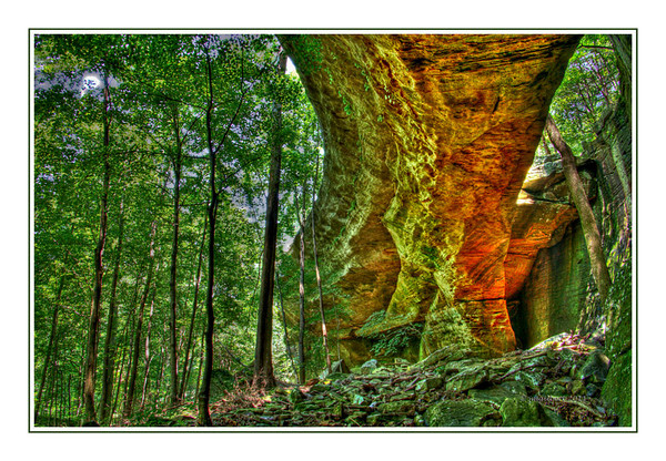 Shawnee National Forest-Bell Smith Spring.  The rock arch processed with a surreal look using HDR.